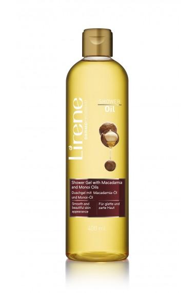 Gel de dus pentru netezirea pielii Lirene cu ulei de Macadamia si Monoi 400ml