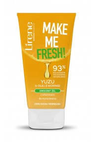 Gel de curatare faciala Make Me Fresh cu vitamine din fructe Yuzu si ulei de moringa, 150ml