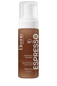 Spuma autobronzanta Lirene - ESPRESSO cu apa organica de cocos, pentru corp, 150ml