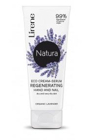 Crema ECO tip ser regeneranta LIRENE NATURA, pentru maini si unghii, 99% ingrediente naturale 75 ml
