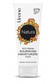 Crema ECO hranitoare si hidratanta pentru picioare LIRENE NATURA, cu extract organic de catina, 75ml