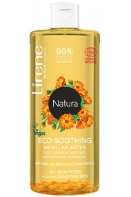 Apa micelara calmanta Lirene Natura cu petale naturale de galbenele 99 ingrediente naturale 400ml