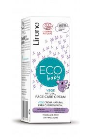 Crema pentru fata Eco Baby cu 98% ingrediente naturale pentru ingrijirea zilnica incepand cu prima zi de viata, 50ml