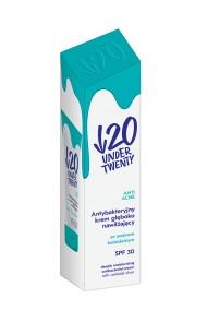 Crema antibacteriana, profund hidratanta Under Twenty cu argint coloidal si factor de protectie solara SPF 30, 50ml