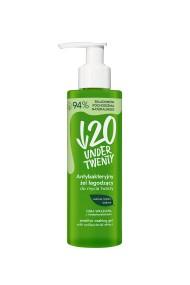 Gel pentru curatare faciala cu efect antibacterian Under Twenty cu extract de salvie, brusture si biotina, 190ml