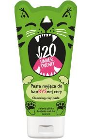 Pasta detoxifianta pentru curatarea tenului Under Twenty cu argila verde Green Detox, salvie si matcha, 150ml