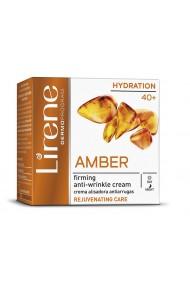 Crema de fata antirid LIRENE, pentru fermitate cu extract de chihlimbar pentu zi si noapte, 50ml