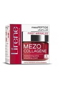 Crema de zi hidratanta si netezitoare pentru estomparea primelor riduri, LIRENE Mezo-Collagene SPF 10, 50ml