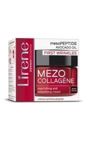 Crema de noapte hranitoare si netezitoare LIRENE Mezo-Collagene cu ulei de avocado, pentru estomparea primelor riduri, 50ml