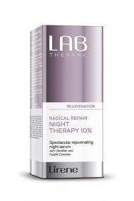 Ser de intinerire pentru noapte LAB Therapy cu Ultrafiller si Fastlift Complex, 30ml