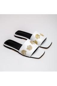 Sandale brodate cu auriu GRANDEUR