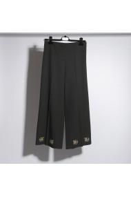 Pantaloni drepti ALISIA ENCO PANT11 Grandeur Negri