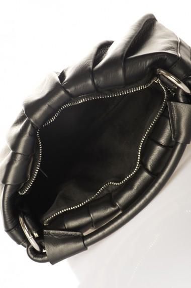 Geanta piele naturala ENYO SAUVAGE BLACK NEGRU