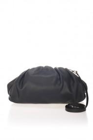Geanta piele naturala RHEA SAUVAGE BLACK NEGRU