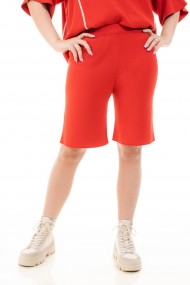 Bermude Amavi din tricot Rosu