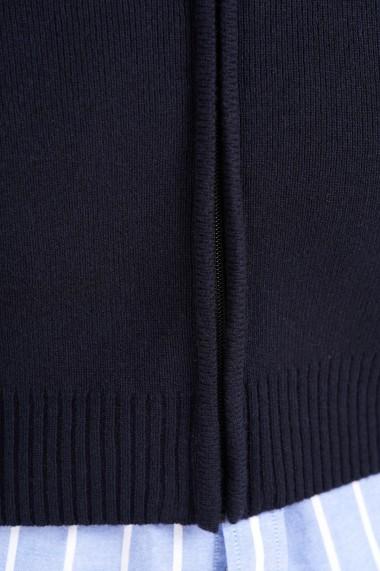 Cardigan Amavi din lana cu fermoar Albastru