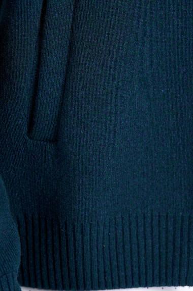Cardigan Amavi din lana cu fermoar Verde