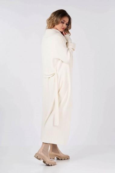 Cardigan Amavi tricotat cu cordon Crem