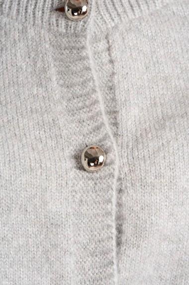 Cardigan Amavi tricotat cu fir metalizat Gri