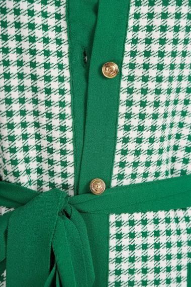 Cardigan Amavi din tricot cu print Alb
