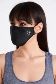 Masca reutilizabila cu filtru si logo Negru
