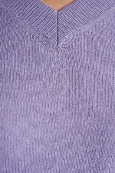 Pulover Amavi din tricot in anchior Mov