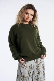 Pulover Amavi tricotat din lana Verde