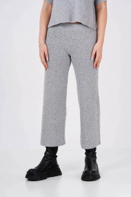 Pantaloni Amavii din tricot cu croi drept Gri