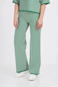 Pantaloni Amavii din tricot cu print Alb