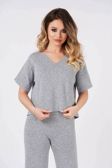 Tricou Amavi din tricot Gri