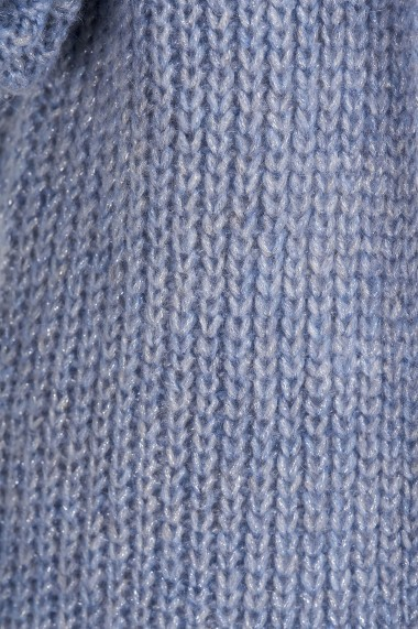 Cardigan Amavi din tricot cu fir lurex Albastru