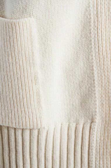 Cardigan Amavi din tricot cu croi larg Crem