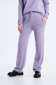 Pantaloni Amavi din tricot cu croi drept Mov