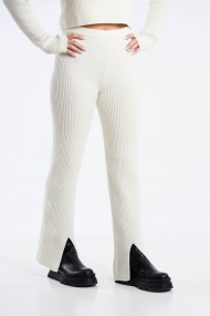 Pantaloni Amavi din tricot cu talie inalta Alb