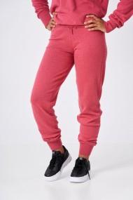 Pantaloni Amavi din lana jogging fit Roz