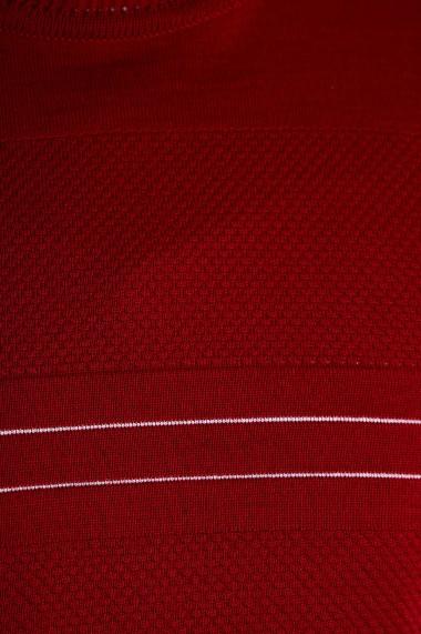 Pulover Amavi din lana cu guler rotund Rosu