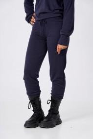 Pantaloni Amavi din lana jogging fit Albastru