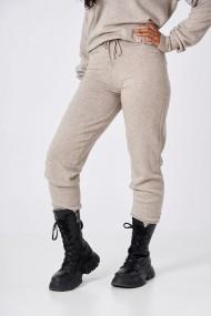 Pantaloni Amavi din lana jogging fit Gri