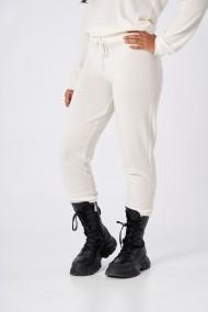 Pantaloni Amavii din lana jogging fit Alb