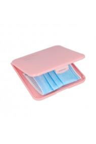 Carcasa roz INCA de depozitare pentru masca de protectie