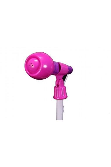 Microfon cu Stativ MalPlay difuzor in forma de inima telecomanda si lumini