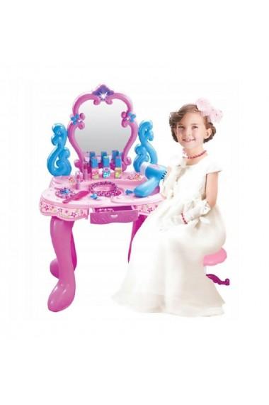 Masuta de infrumusetare MalPlay Beauty cu oglinda rotativa, sunete, lumini si accesorii