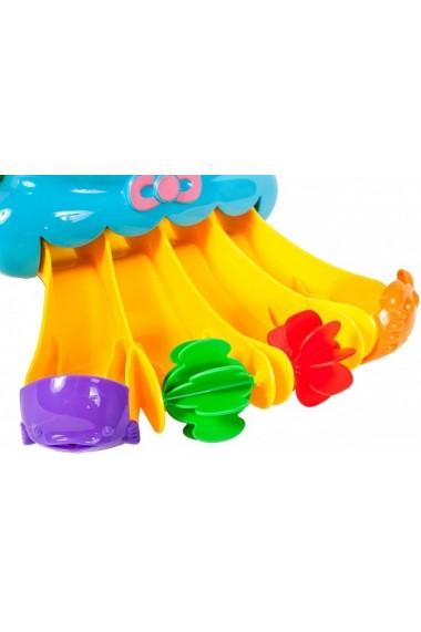 Jucarie de baie MalPlay Caracatita cu tobogane si 4 accesorii colorate