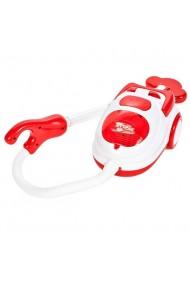 Aspirator de jucarie Malplay pentru copii cu lumina, sunete si bile care pot fi aspirate, Rosu 20 cm