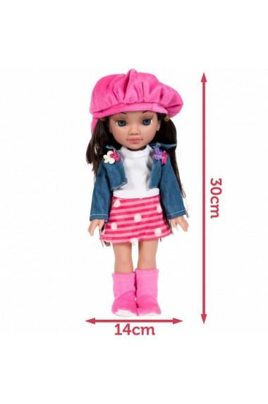 Set Papusa fetite MalPlay cu sapca si accesorii infrumusetare , 30 cm