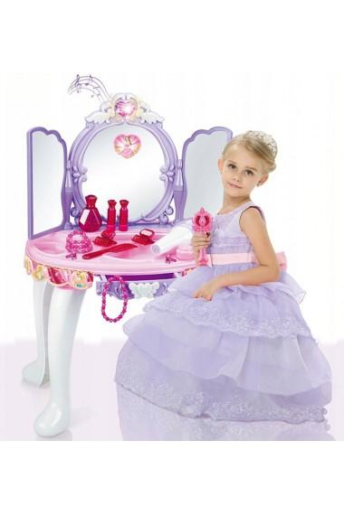 Masuta de infrumusetare MalPlay Lila - Roz cu MP3, oglinda, bagheta magica, melodii si lumini