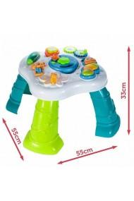 Jucarie interactiva MalPlay Masuta cu activitati,sunete ,lumini,picioare si jucarii detasabile pentru bebelusi