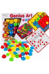 Joc de creatie Puzzle Mozaic MalPlay cu 24 planse si 50 piese colorate , +3 ani
