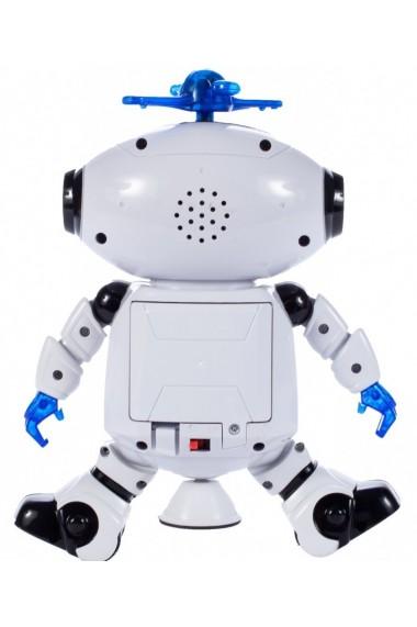 Jucarie interactiva Malplay Robot care danseaza cu muzica si lumini 21 cm