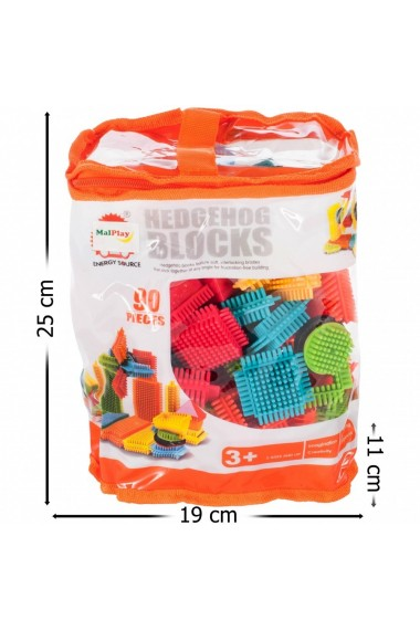 Set de construit Blocks MalPlay Tip tepi multicolore, 90 piese